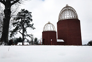 begley chapel in snow